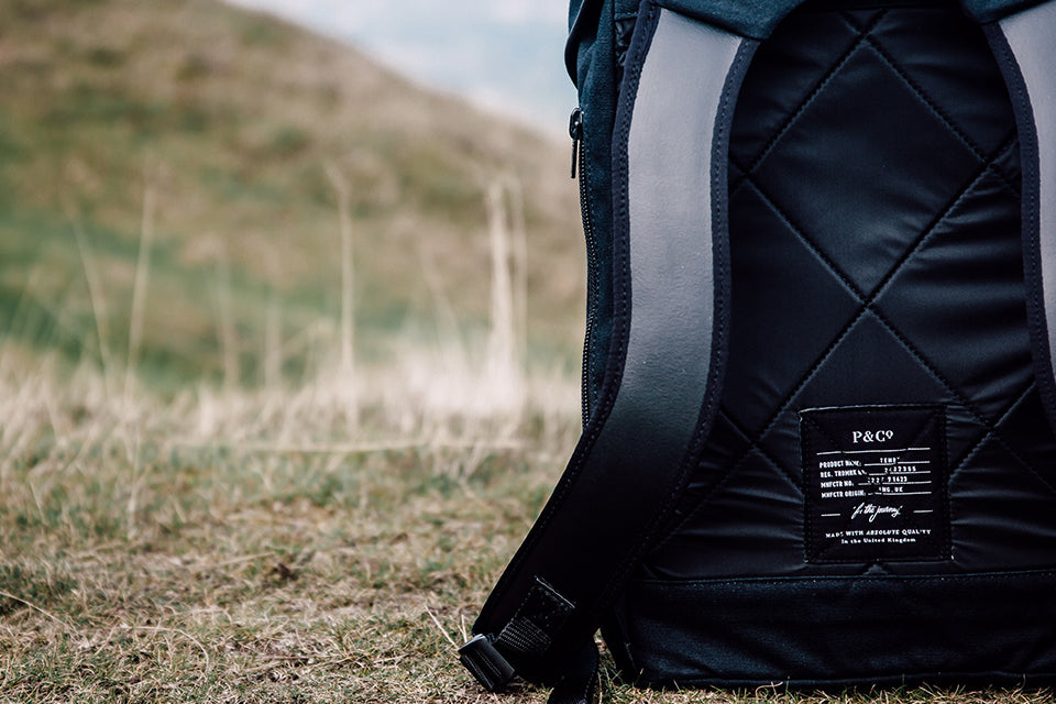 Tenby Rucksack - Black Edition P&Co Clark & Timms Made in The United Kingdom