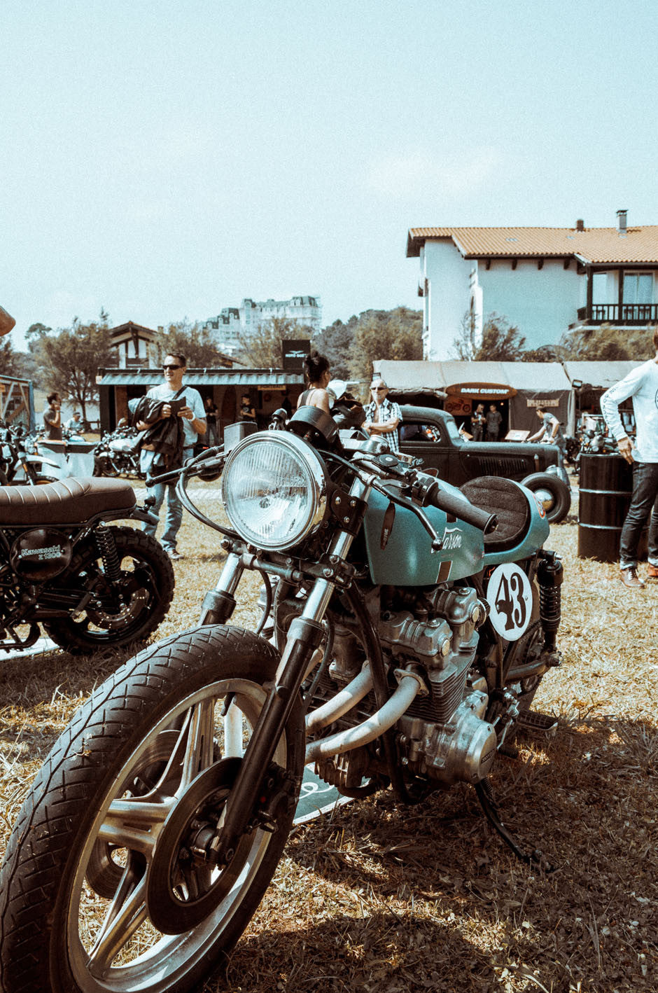 WHEELS & WAVES 2017 WNW 2017 WHEELS AND WAVES PANDCO P&CO BIARRITZ FRANCE MOTORCYCLE CAFE RACERS CUSTOM SURF