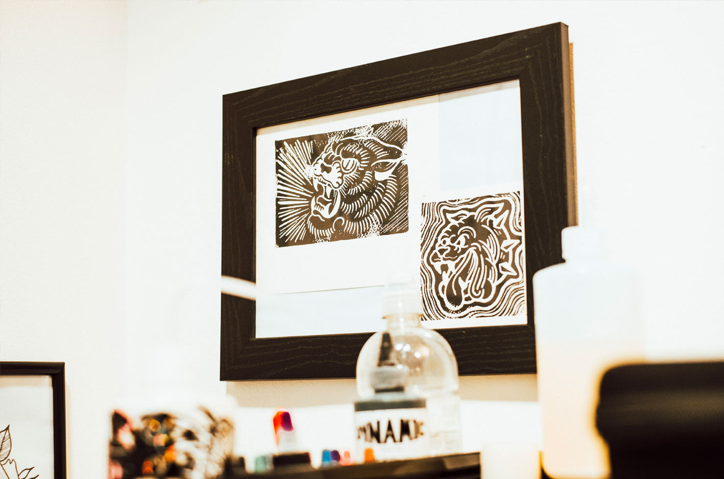 Traditional Tattoo sketches framed