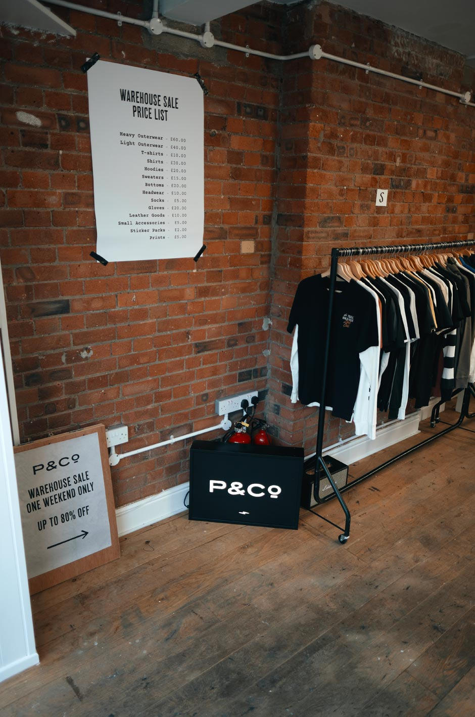 P&Co Warehouse Sale Price List