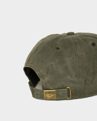 Waxed Mechanic Olive 5 Panel Cap