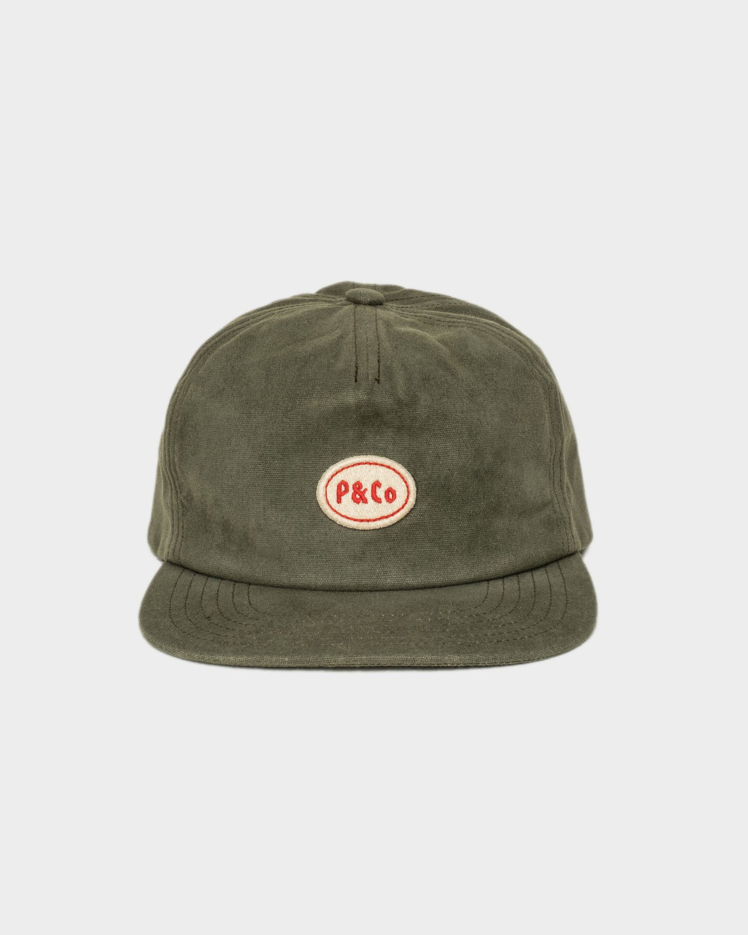 Olive Waxed Mechanic 5 Panel Cap