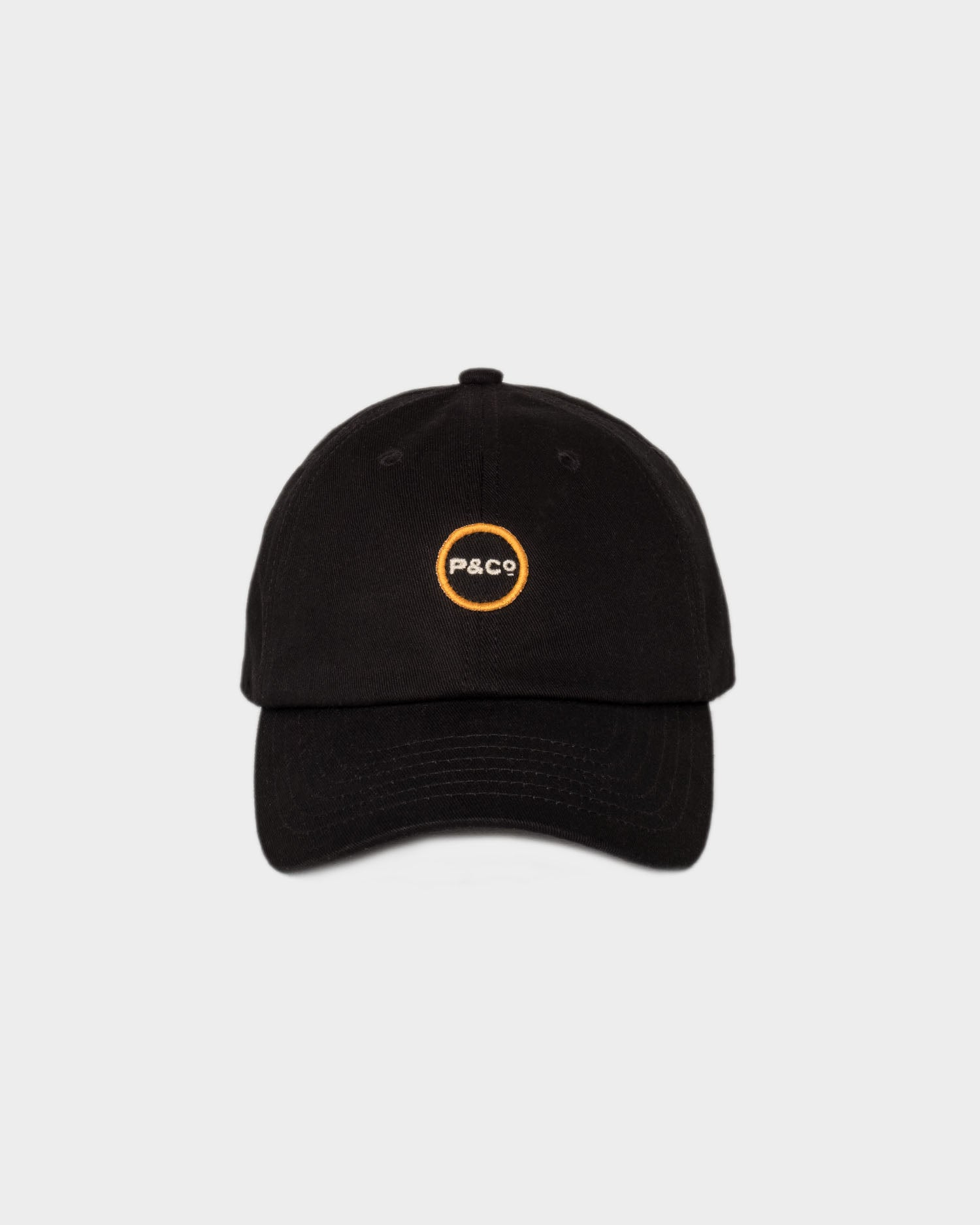 Black Logo 6 Panel Cap