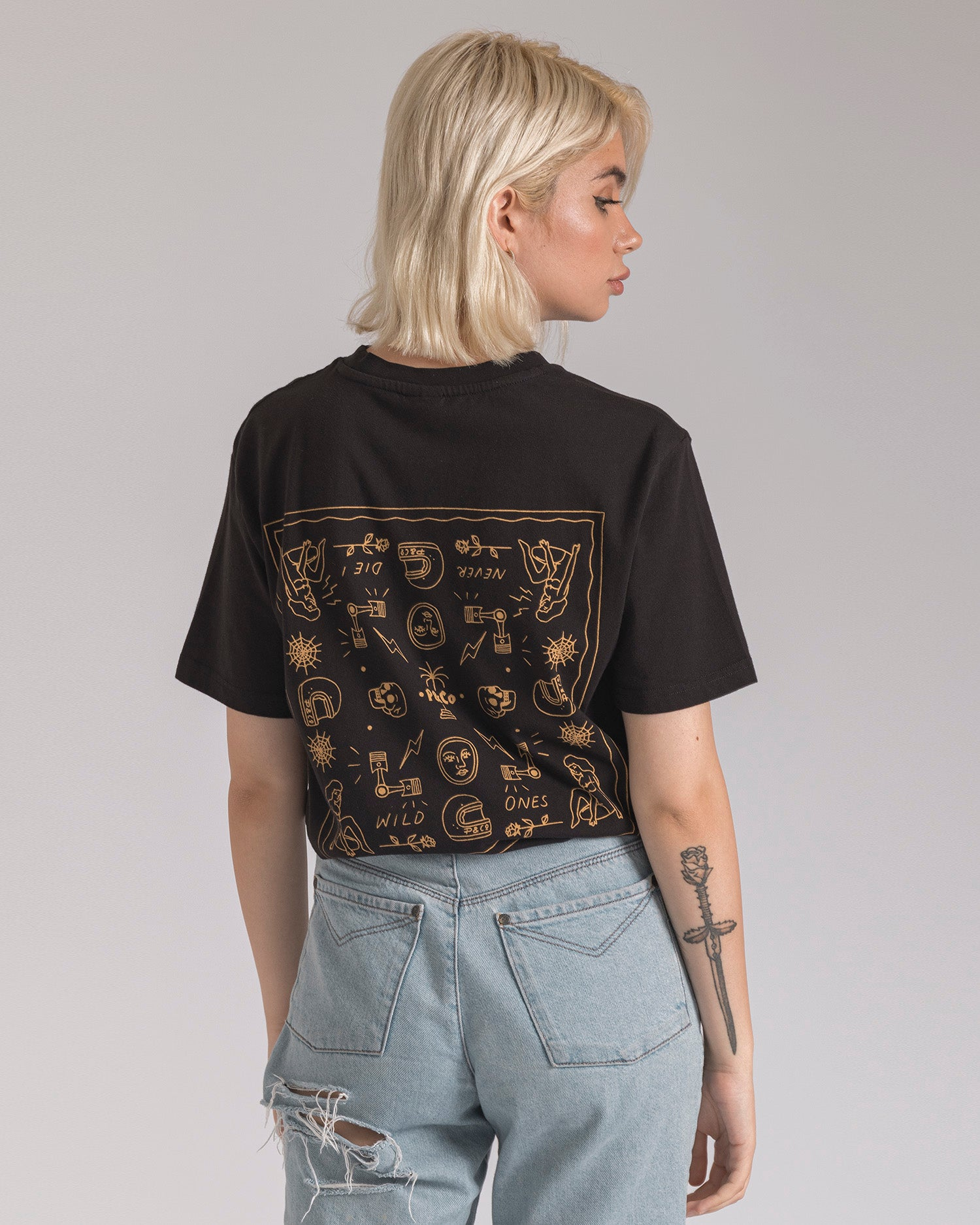 Lucille Lock-up Oversized T-Shirt