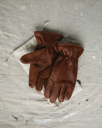 Brown Lined Leather Gloves