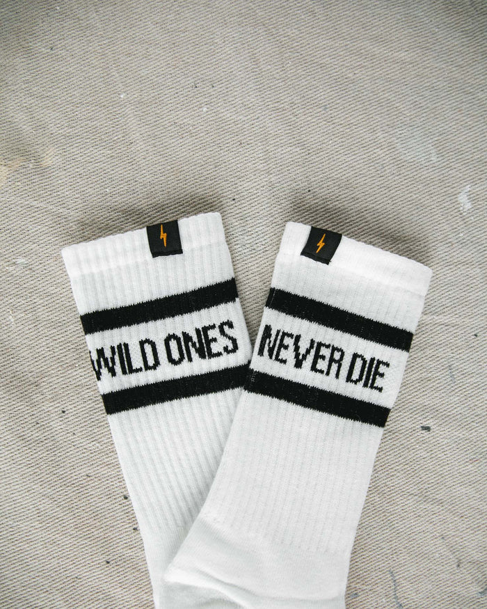 Wild Ones Never Die Socks