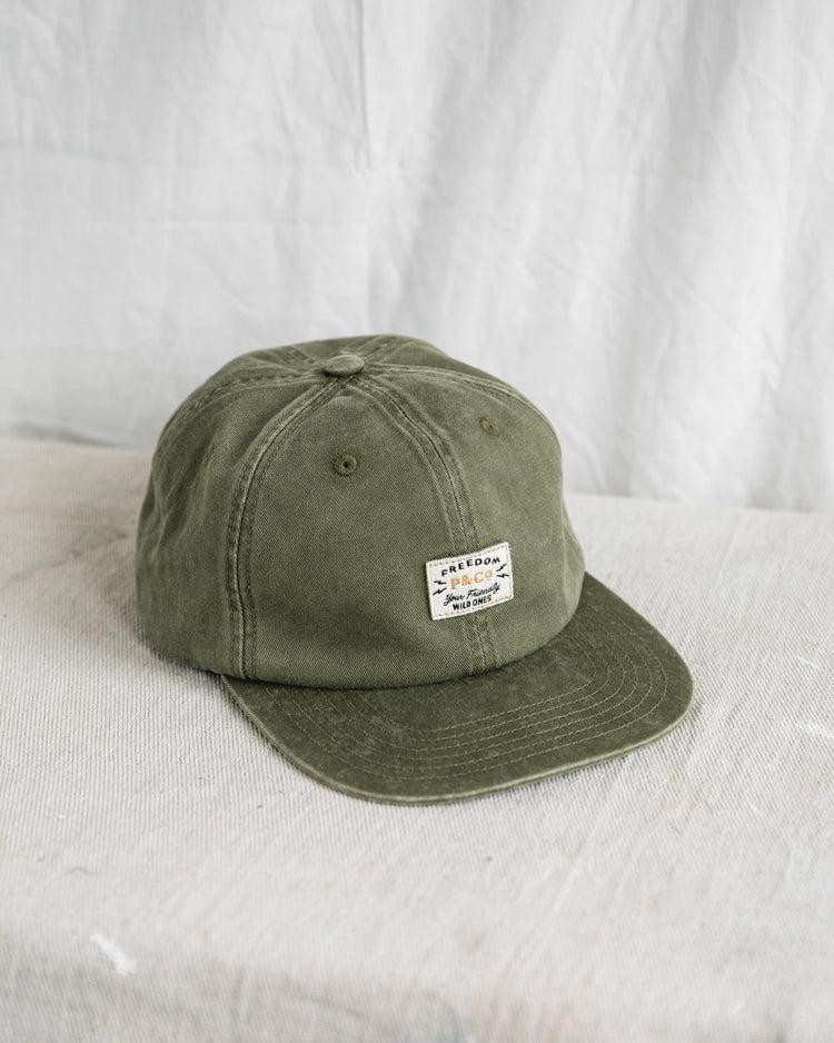 Olive Freedom Patch 5 Panel Cap