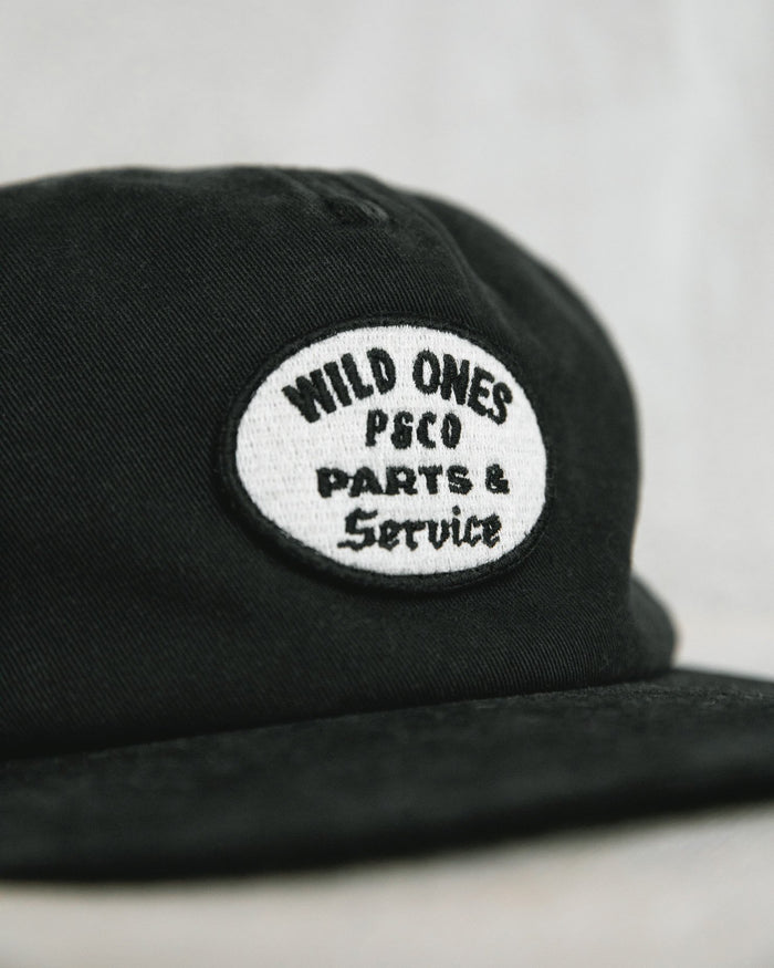 Full Serivce Black 5 Panel Cap