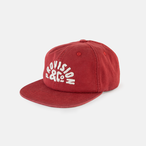 P&Co - Washed Red Provision Sunrise 6 Panel Cap - Provision & Co