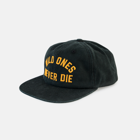 P&Co - Black Mens Cap Wild Ones Never Die 5 Years Wild - Provision & Co