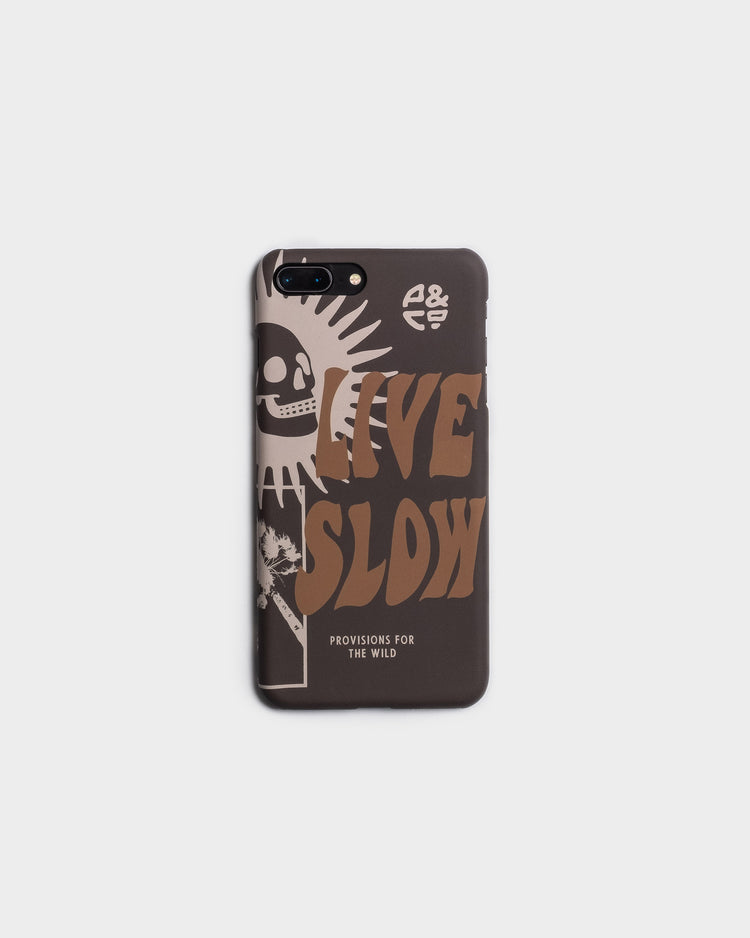 Live Slow Black Iphone Case for 7/8/X