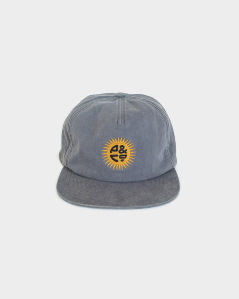 Sun Sign Washed Blue 5 Panel Cap