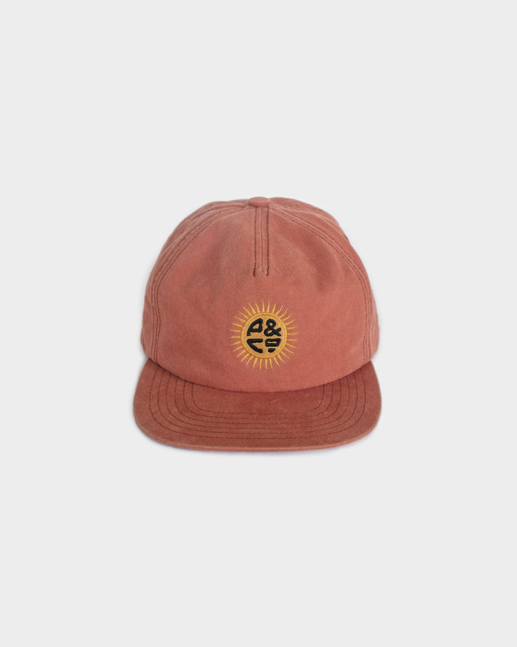 Sun Sign Washed Red 5 Panel Cap