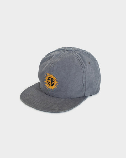 Sun Sign Ink Blue 5 Panel Cap