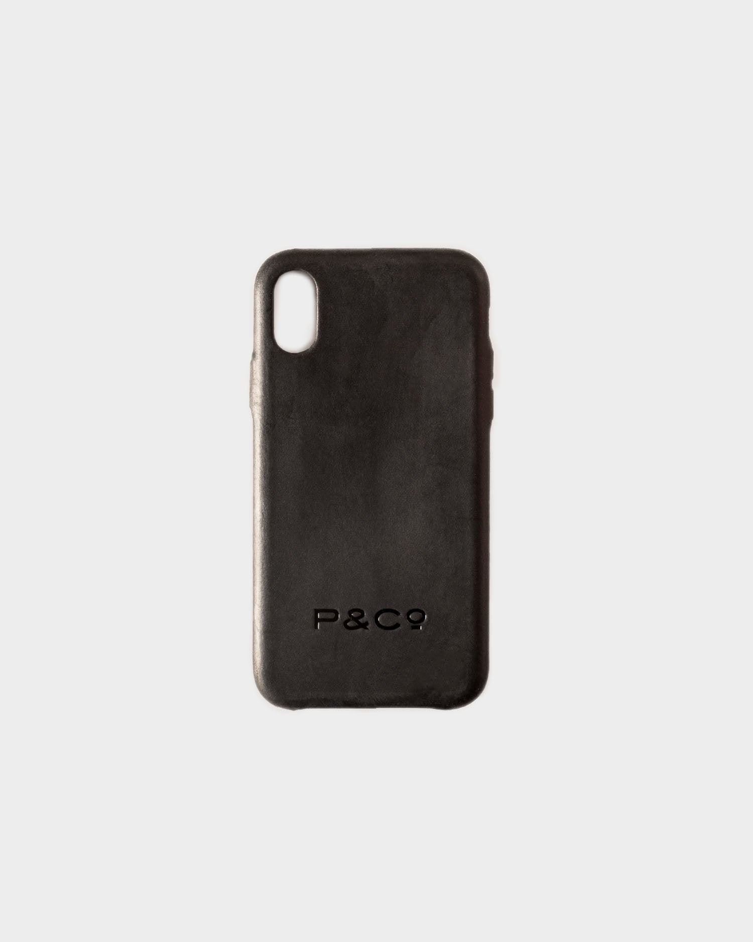 Black Leather iPhone Case For XS