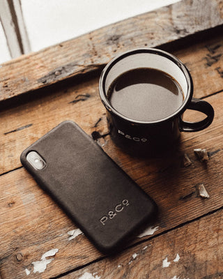 Black Leather iPhone Case For XS MAX