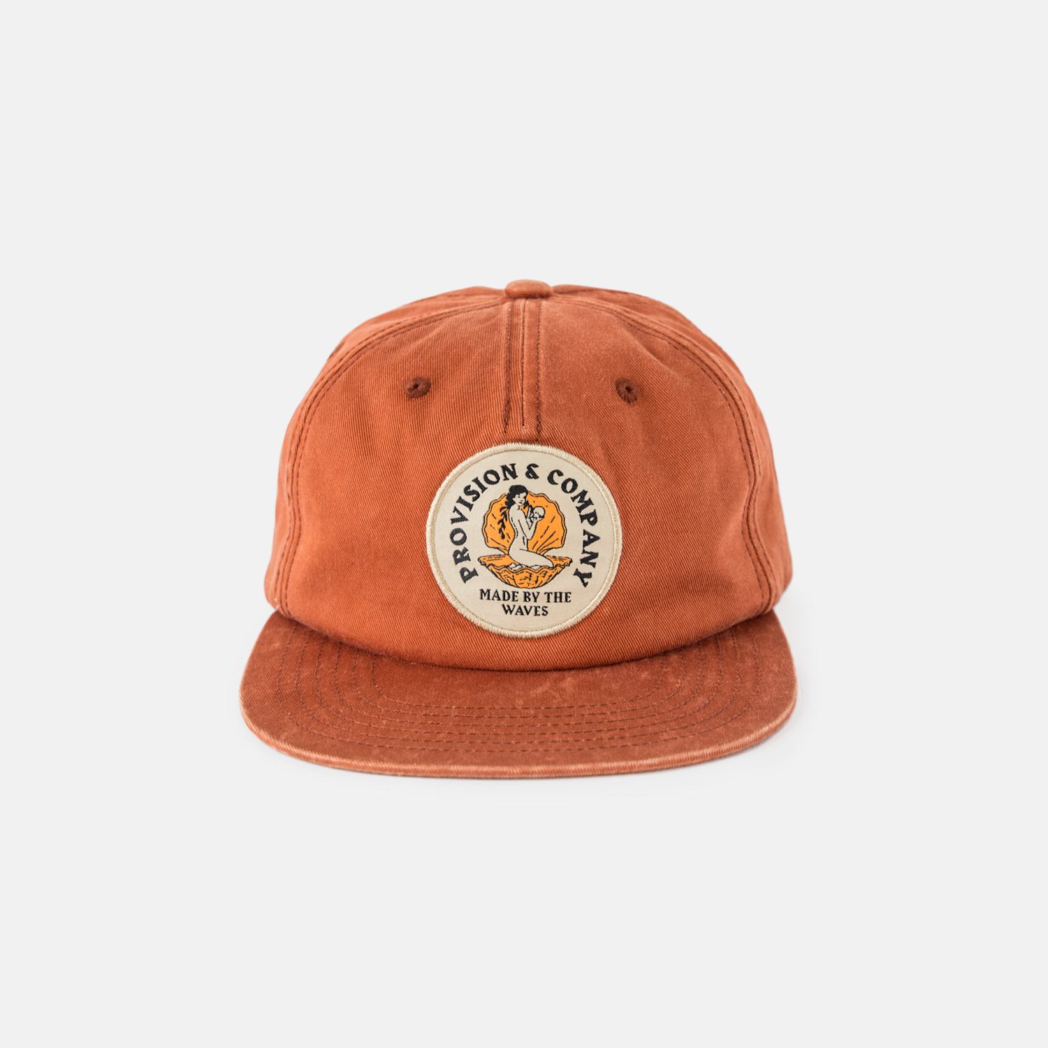 P&Co - Washed Orange Made by The Waves 5 Panel Cap - Provision & Co