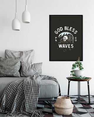 God Bless Waves A2 Artwork Print