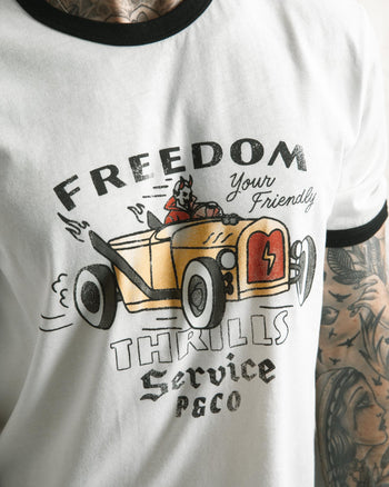 Freedom & Thrills Ringer T-Shirt