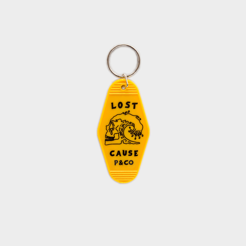 P&Co - Yellow Plastic Lost Cause Motel Key Fob - Provision & Co