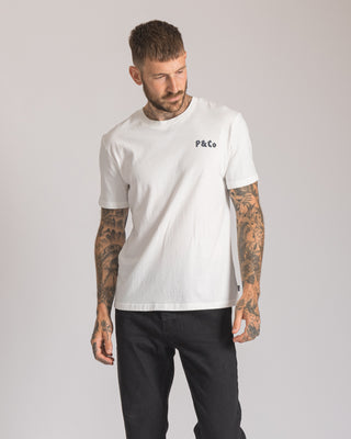 Mens In Caffeine We Trust White Short Sleeve crewneck Tee