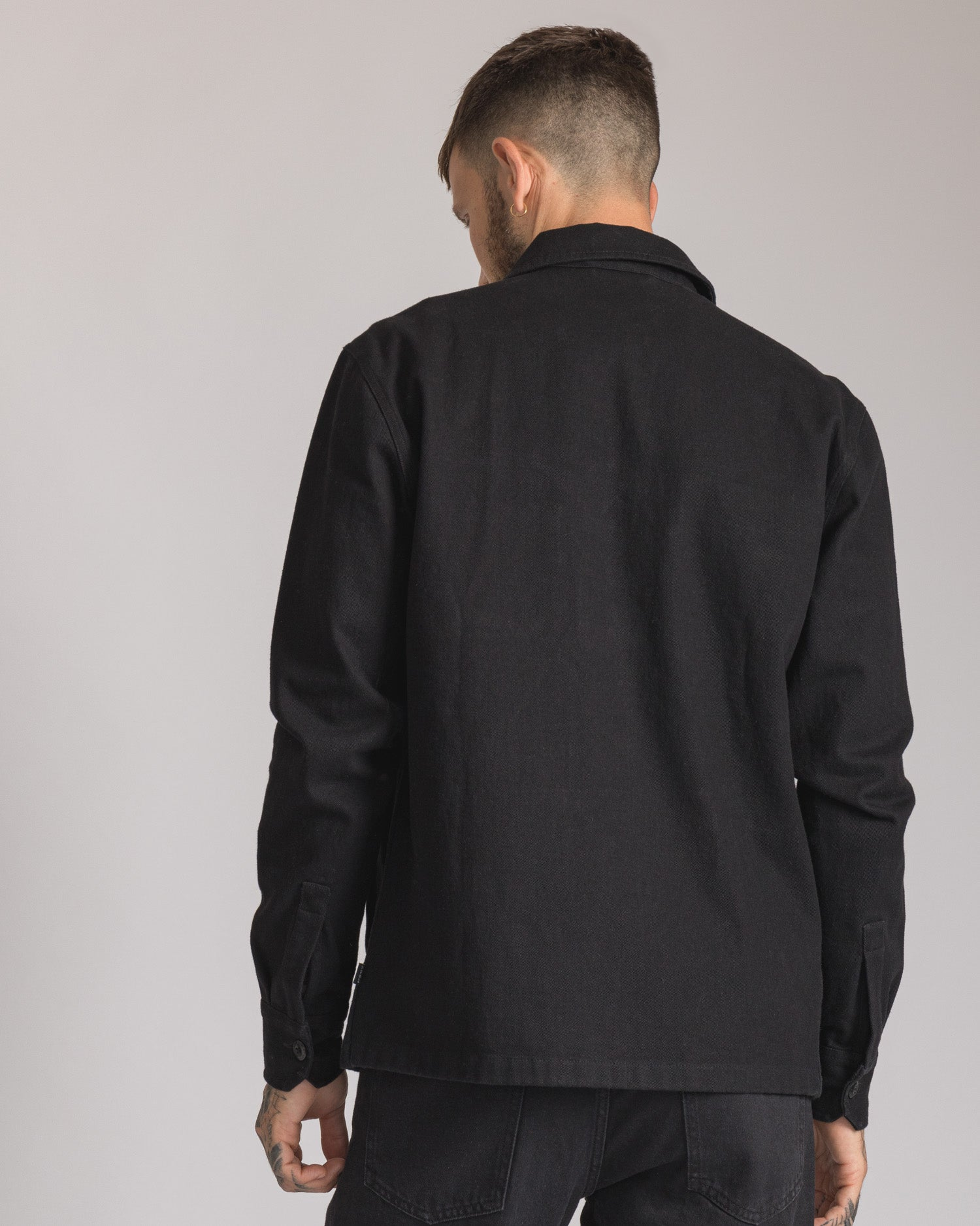 Mens Black Casual Overshirt