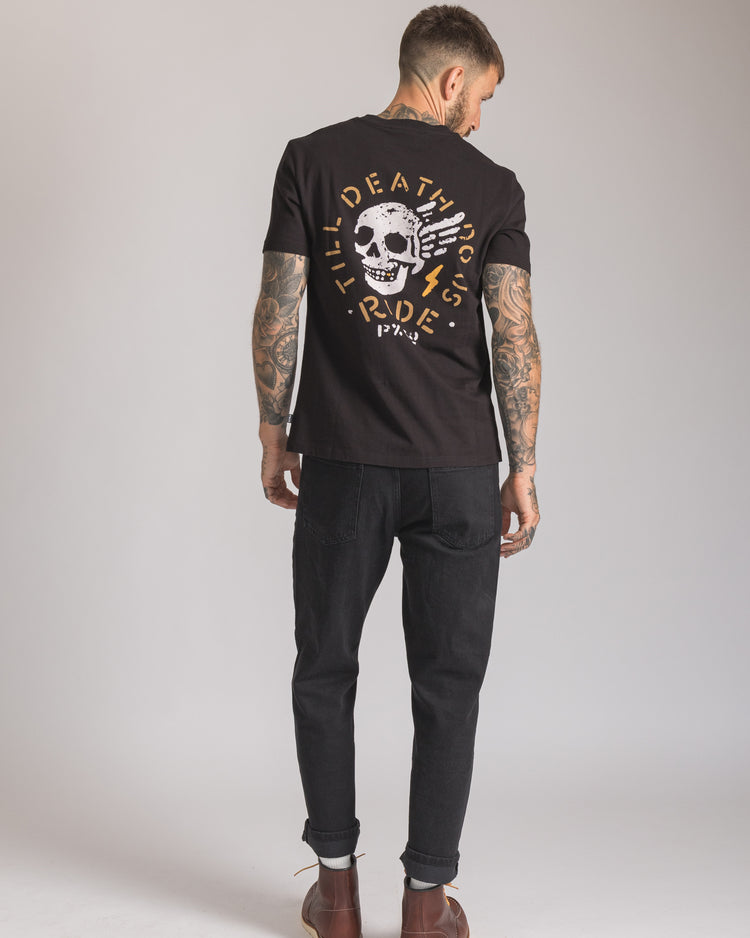 Mens Til Death do us ride Black Tee
