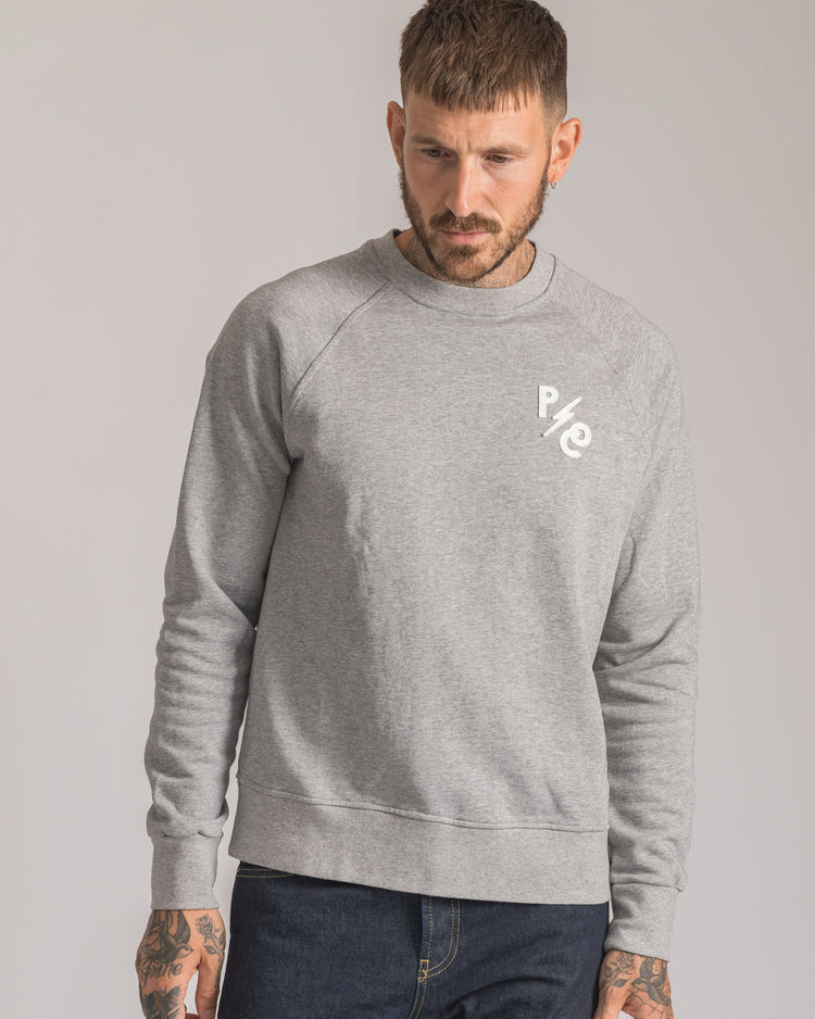 Mens P&Co Grey Crew neck sweatshirt with Patch Stitched