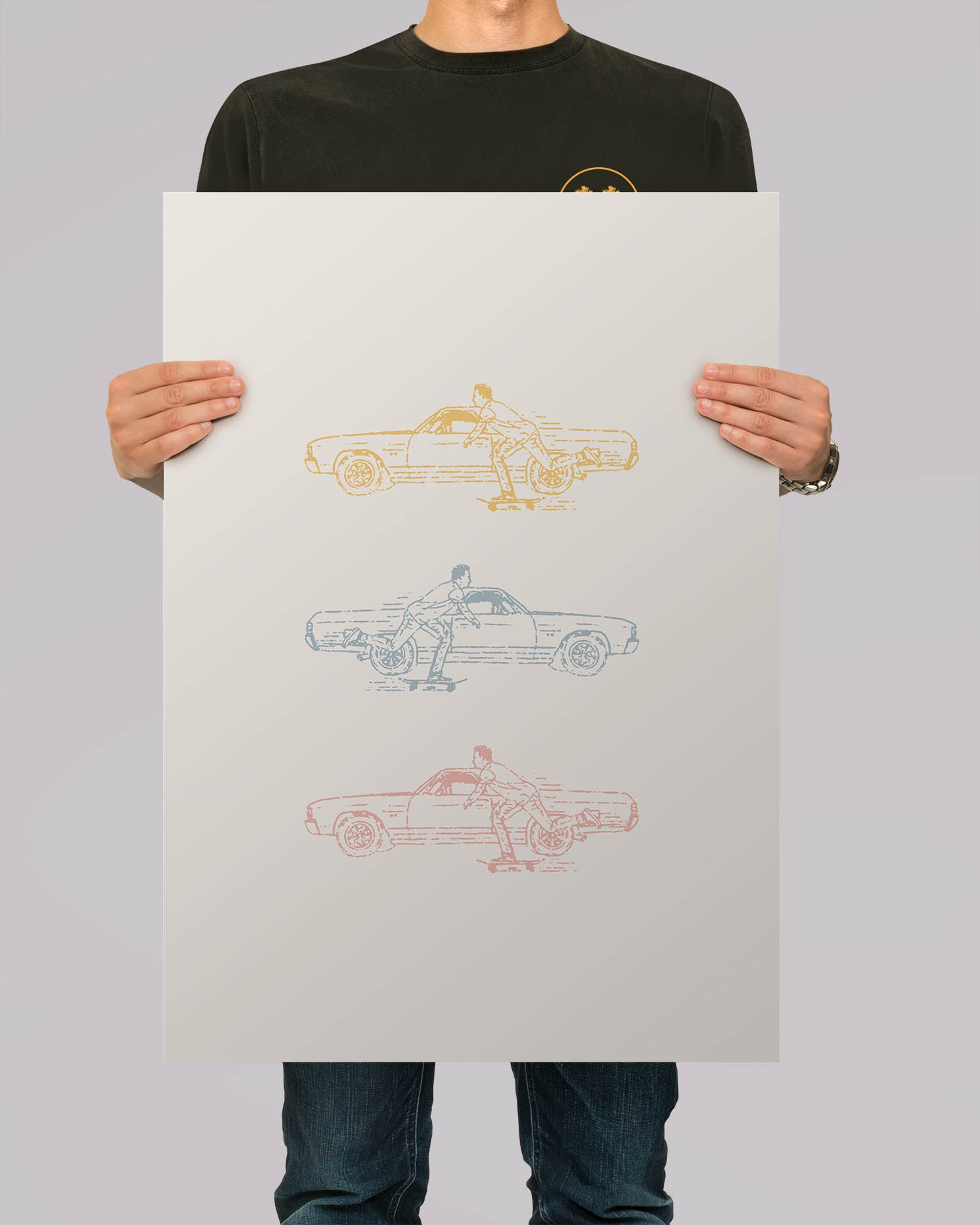 Low Riders White A2 Artwork Print