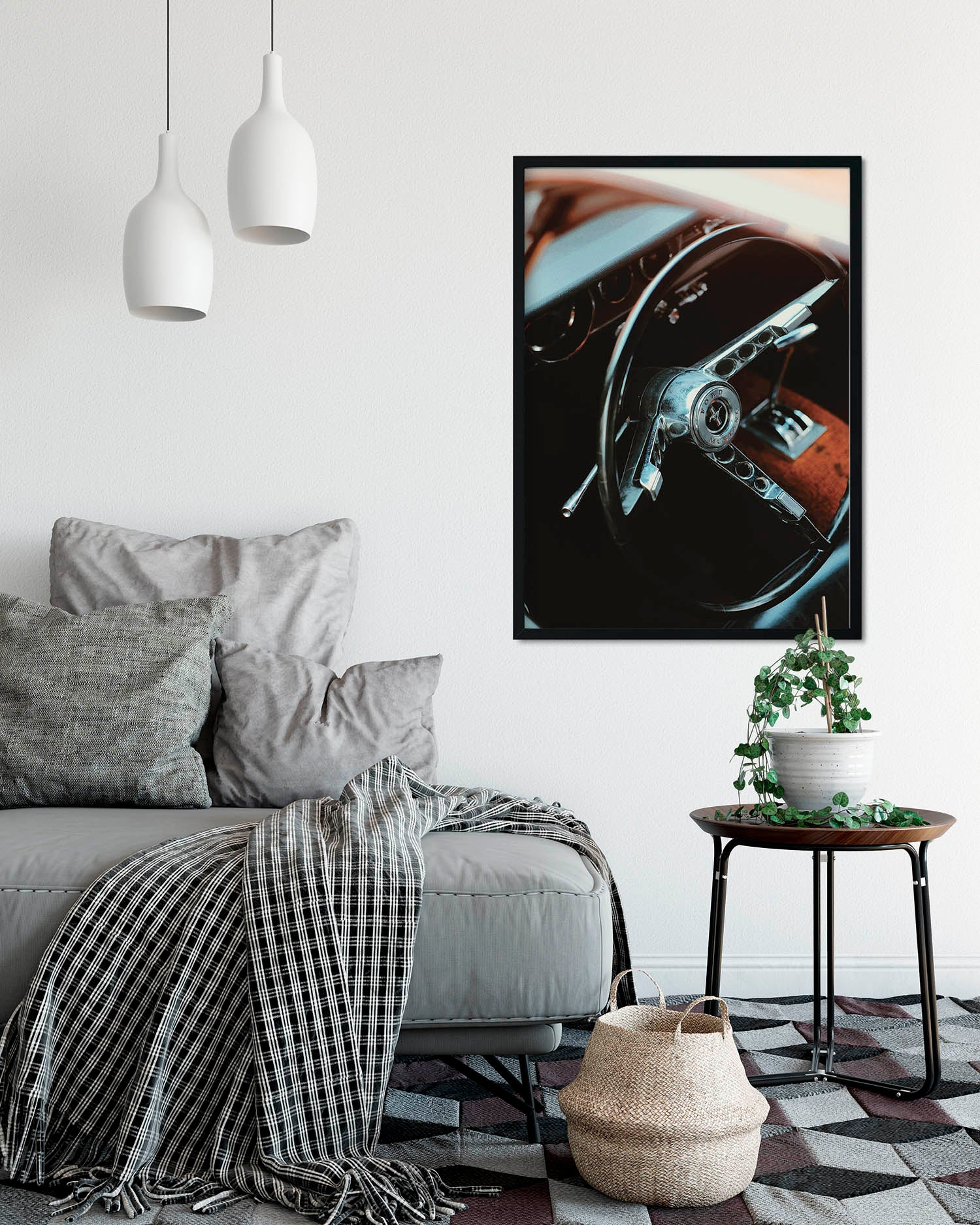 Mustang Wheel A2 Artwork Print