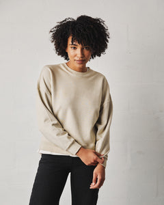 Hard Craft Relaxed Sweater - Stone