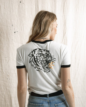 tiger bolt ringer graphic t-shirt by P&Co