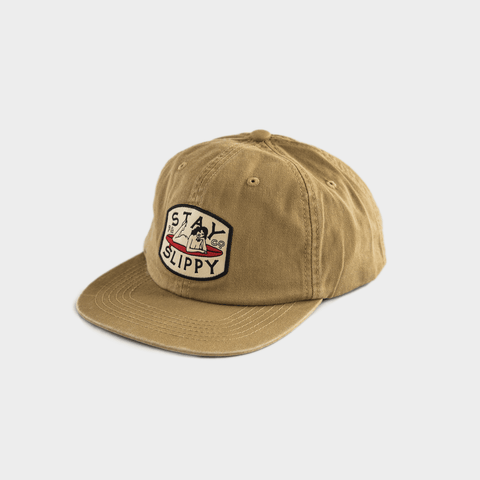 P&Co - Washed Sand Stay Slippy 6 Panel Cap - Provision & Co