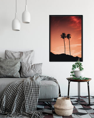 Sunset Palm Photographic A2 Artwork Print