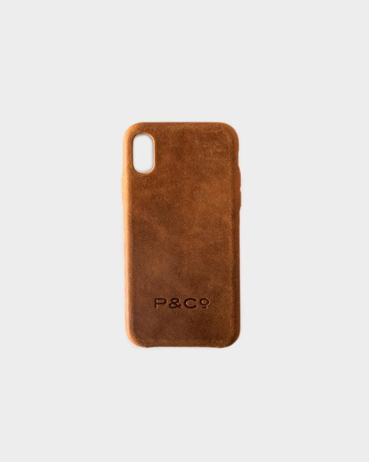 Brown Leather iPhone Case for XS