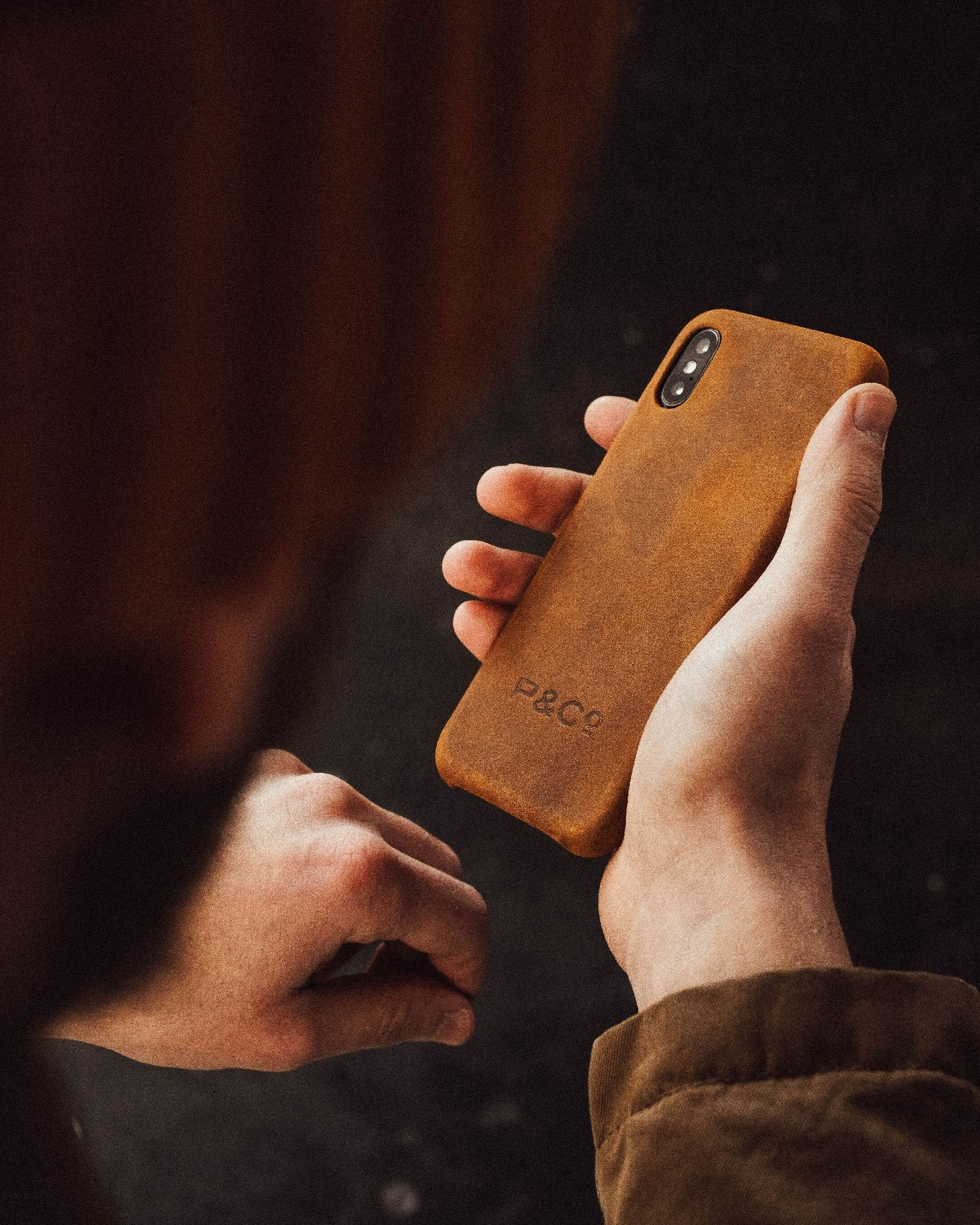 Brown Leather iPhone Case for XS MAX