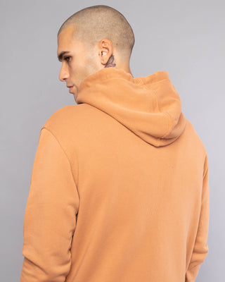 Mens Logo Rust Zip Up Hoodie