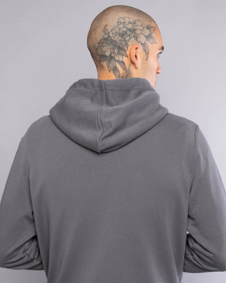 Logo Grey Mens Zip Up Hoodie