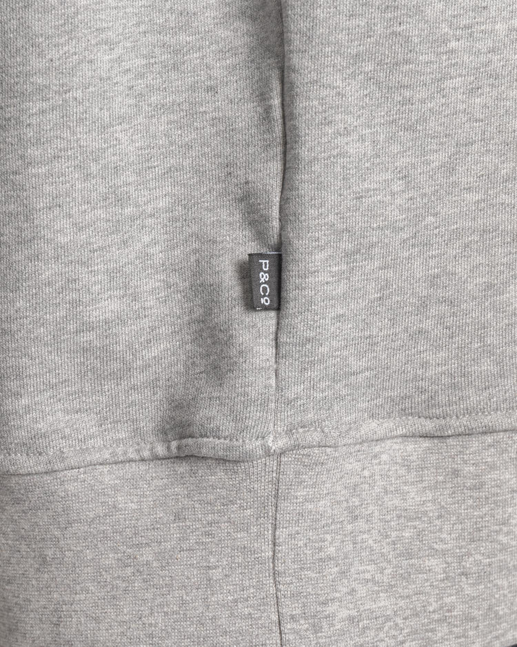 Mens Grey Crew neck sweatshirt with Patch