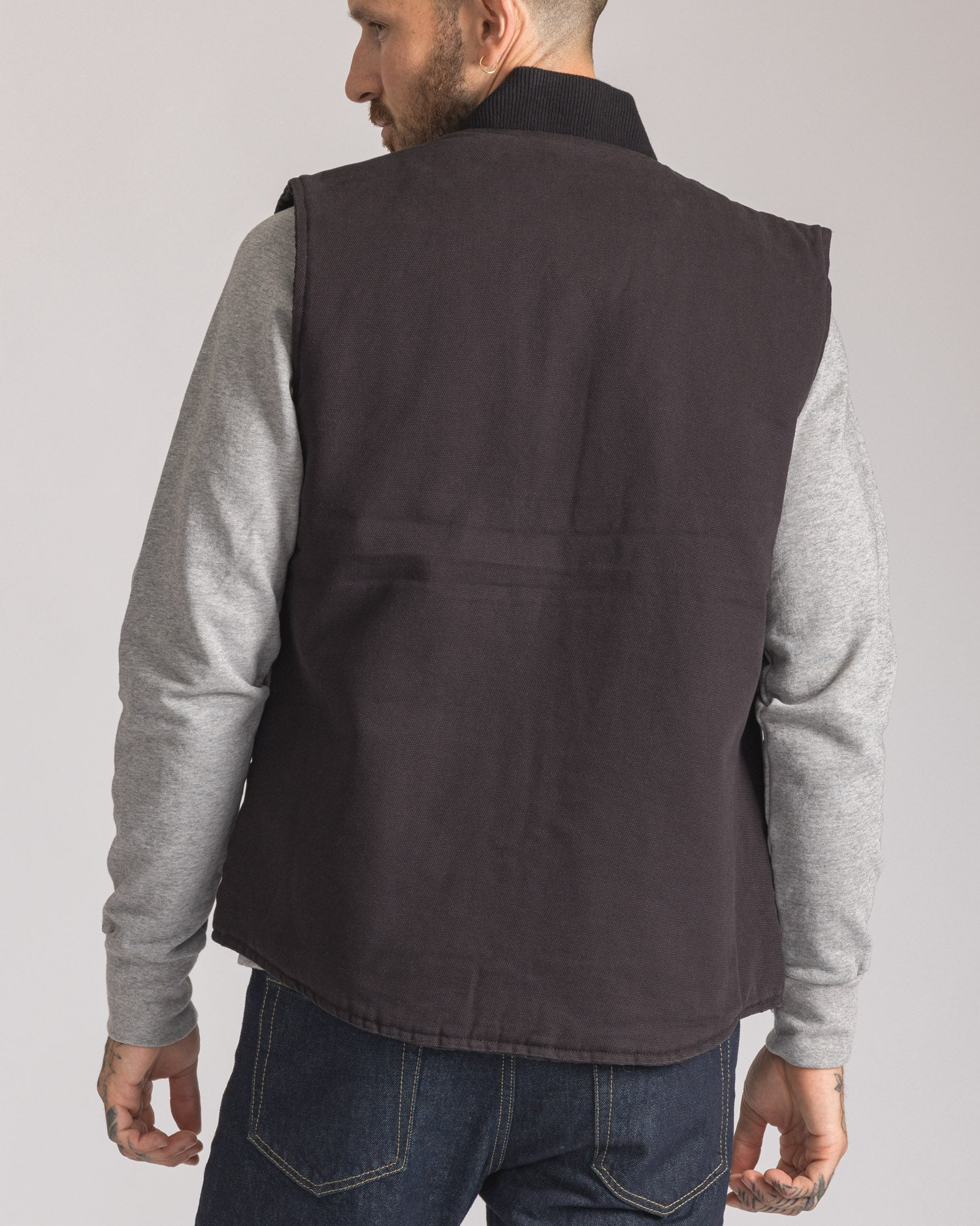 Mens Outerwear Lightweight Black Cotton Body warmer