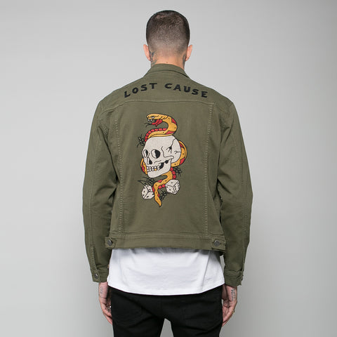 P&Co - Army Green Mens Jacket Lost Cause - Provision & Co