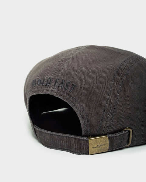 Hold Fast Charcoal Embroidered 5 Panel Cap
