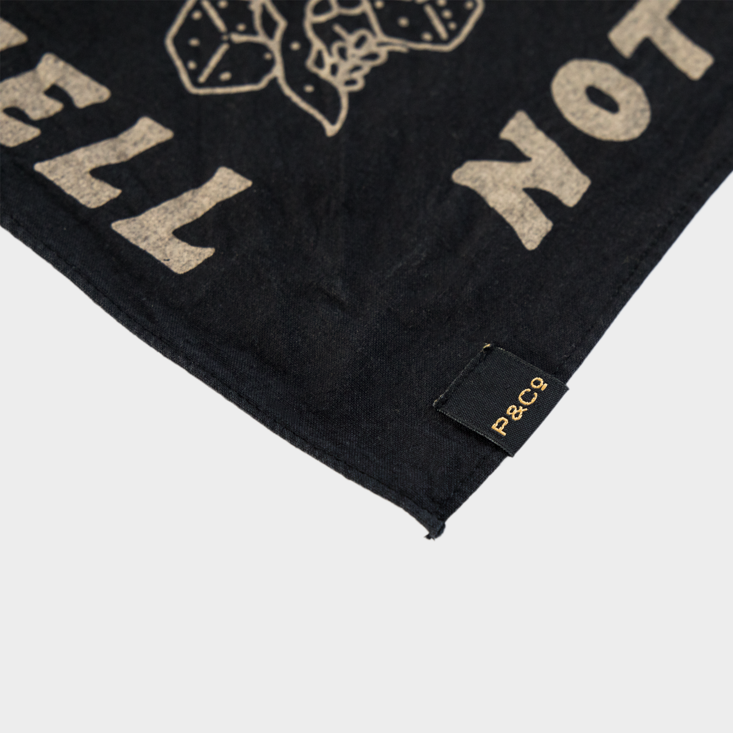 P&Co - Black Not a Hope In Hell Bandana - Provision & Co