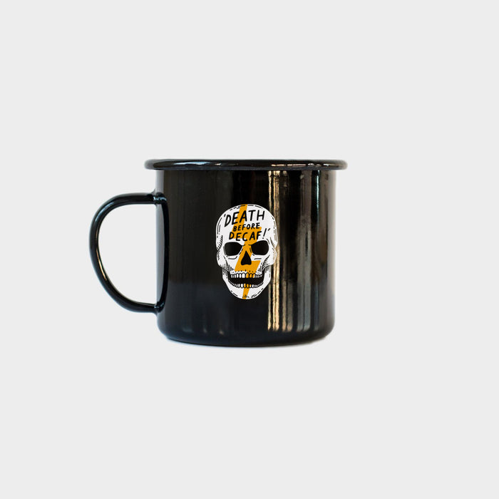 Death Before Decaf Vol. 2 - Black Enamel Mug