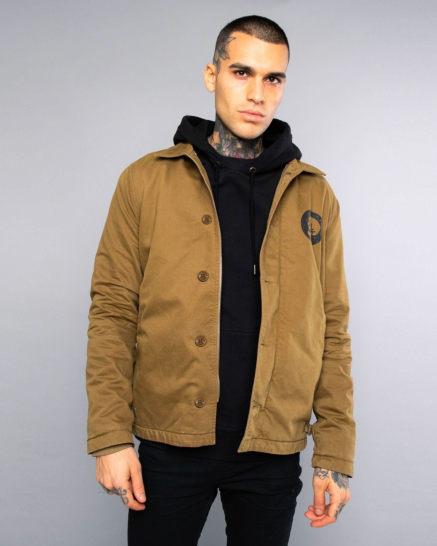 Mens A2 Skulls Olive Deck Jacket