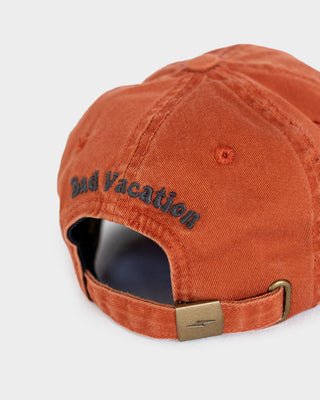 Bad Vacation Mens Orange 5 Panel Cap