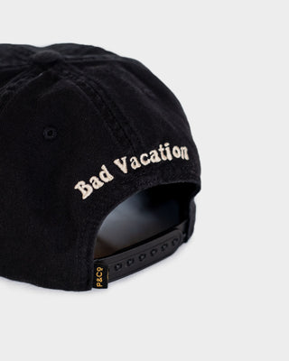 Bad Vacation Womens Black 5 Panel Cap