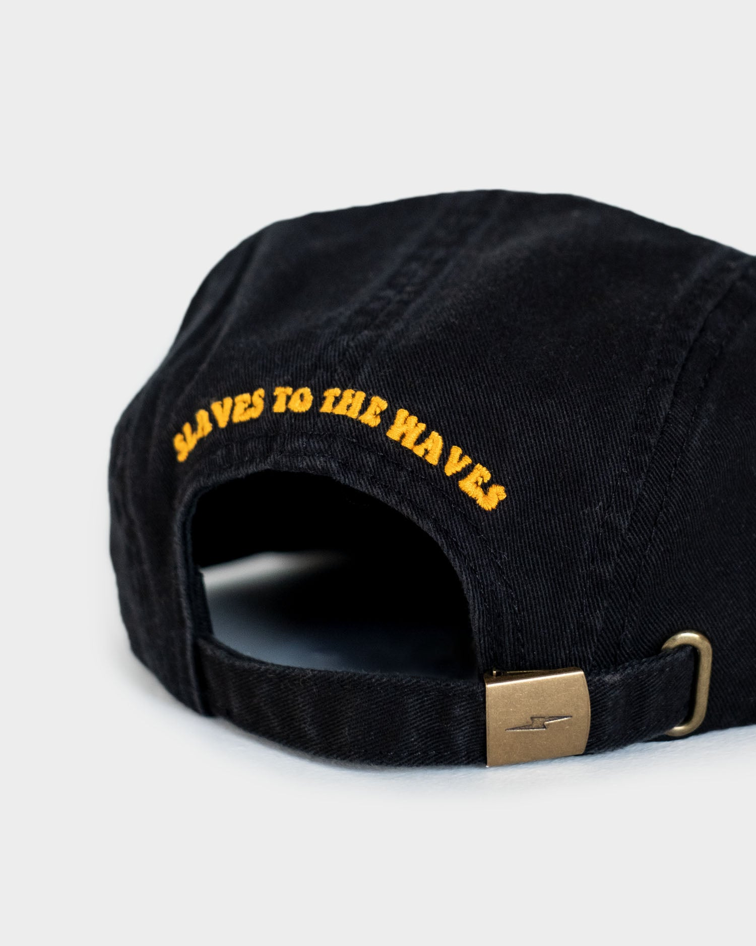 Slaves to The Waves Mens Black 5 Panel Cap