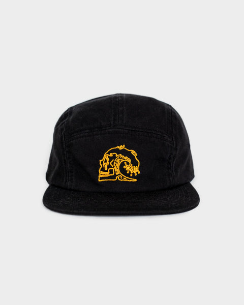 Slaves to The Waves Womens Black 5 Panel Cap