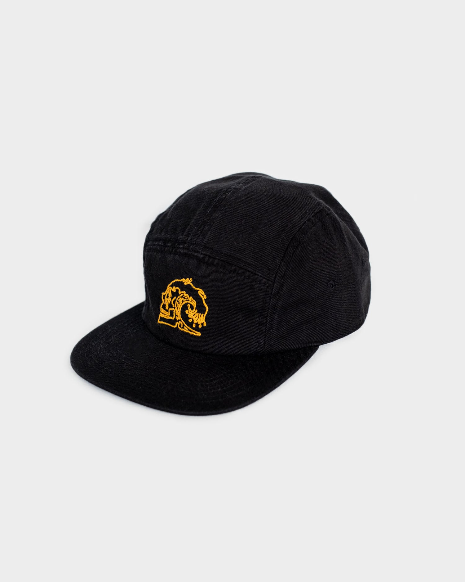 Slaves to The Waves Black 5 Panel Cap